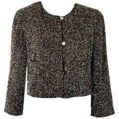Iconic Chanel Signature Fully Beaded Evening Jacket like Haute Couture