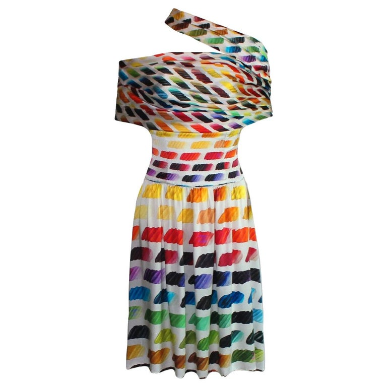 Iconic Chanel Watercolors Corset Silk Ensemble Set as Dress For Sale