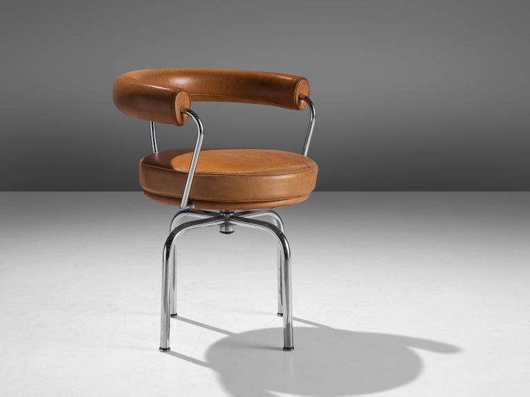Charlotte Perriand, swivel armchair 'LC7', tubular steel, leather, design 1927, produced by Cassina since 1978  This iconic 'LC7' armchair was designed by Charlotte Perriand in 1927 for her own apartment in Paris. In1928 it was shown at Salon des