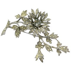 Iconic clear paste 'en tremblant' brooch, Mitchel Maer for Christian Dior, c1954