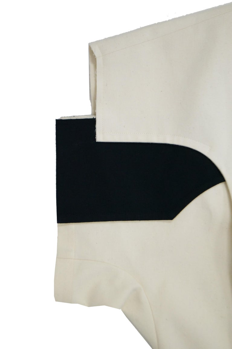 Women's or Men's Iconic Comme des Garçons Black and White Flat Pack Runway Dress 2014 For Sale