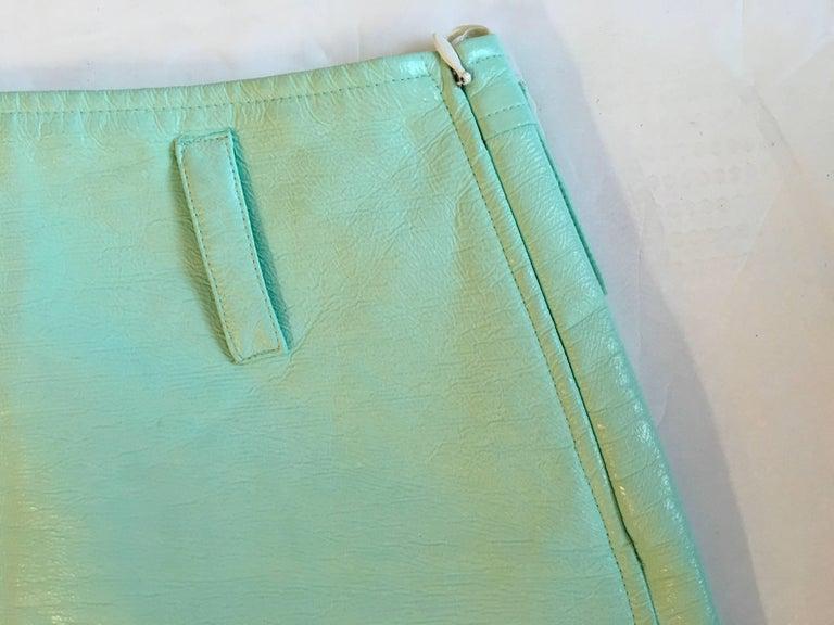 Women's Courreges Sea Foam Aqua Mini Skirt   For Sale