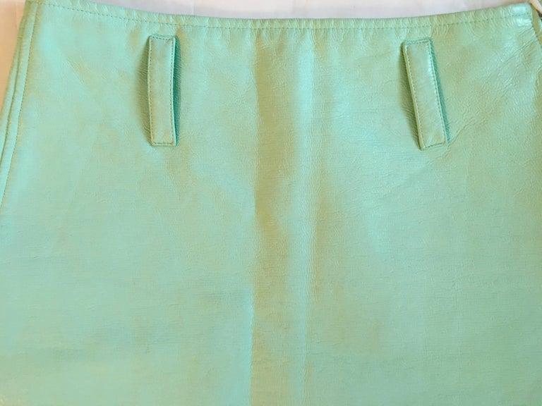 Courreges Sea Foam Aqua Mini Skirt   For Sale 1