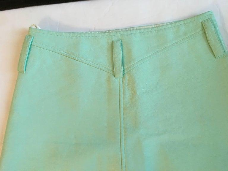 Courreges Sea Foam Aqua Mini Skirt   For Sale 2