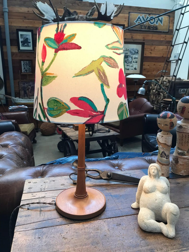 Hand-Crafted Iconic Danish Esben Klint Table Lamp Model 301 in Solid Teak For Sale