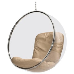 Iconic Eero Aarnio Natural Leather Bubble Chair