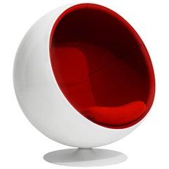 Iconic Eero Aarnio Red Swivel Ball Lounge Chair