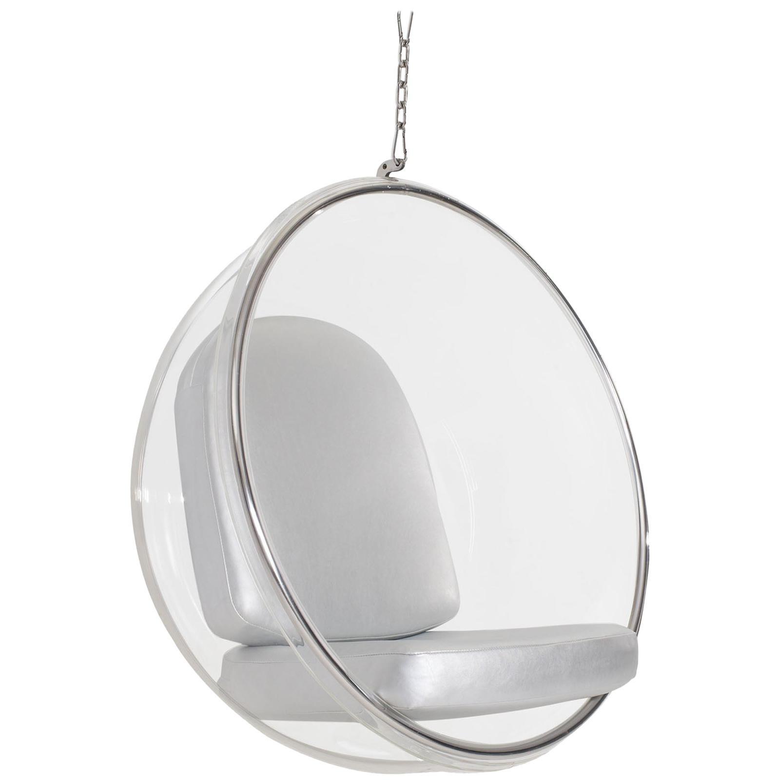 Iconic Eero Aarnio Silver Bubble Chair
