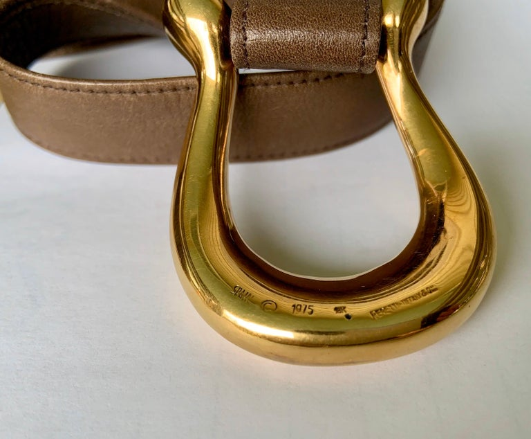 Elsa Peretti 18K Gold Buckle Designed for Halston Retailed by Tiffany & Co. 1975 4