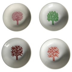 Iconic Four Seasons Design Ashtrays, Set '4' NYC Restaurant by Emil Antonucci