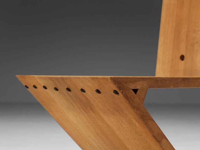 Mid-Century Modern Iconic Gerrit Rietveld for Groenekan 'Zig Zag' Chair in Elm For Sale