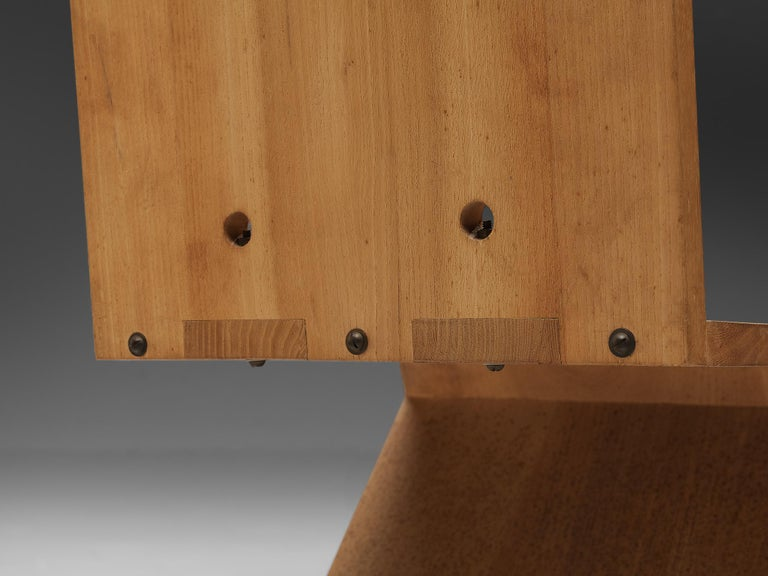 Iconic Gerrit Rietveld for Groenekan 'Zig Zag' Chair in Elm In Good Condition For Sale In Waalwijk, NL