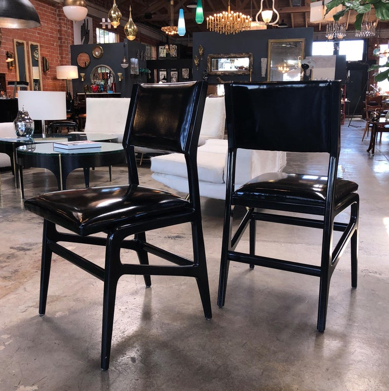 Mid-Century Modern Iconic Gio Ponti Chairs, Italy 1958, Set of Six For Sale