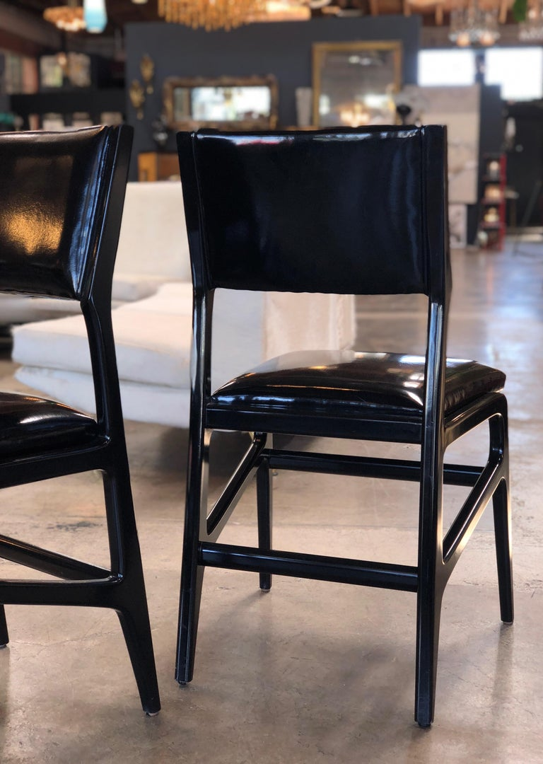 Fabric Iconic Gio Ponti Chairs, Italy 1958, Set of Six For Sale