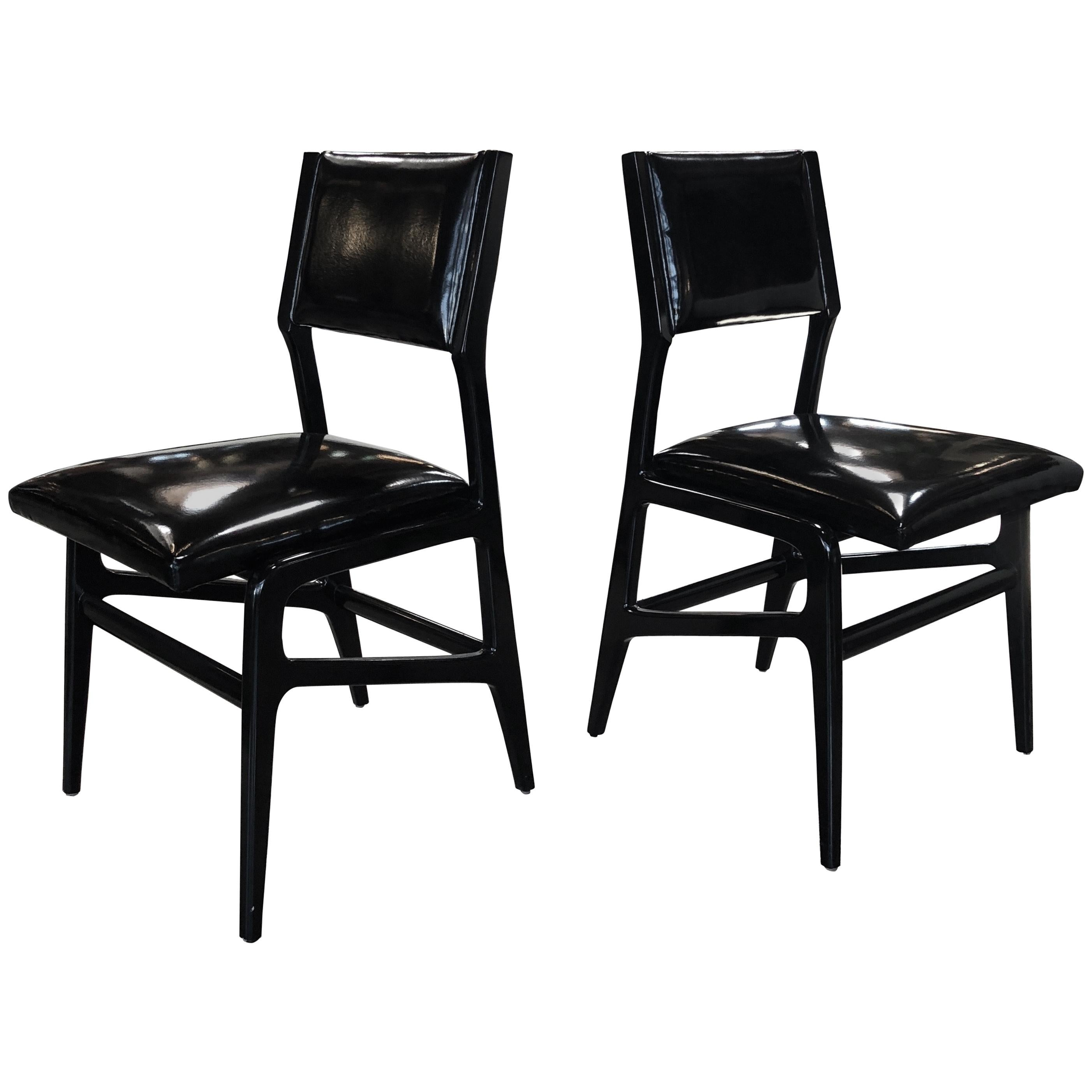 Pair of Iconic Gio Ponti Chairs, Italy 1958,