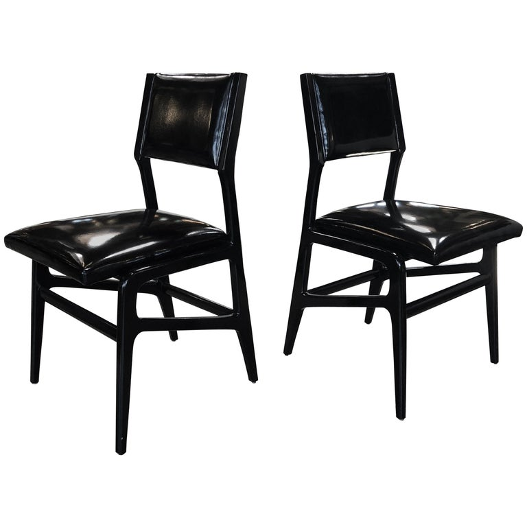 Iconic Gio Ponti Chairs, Italy 1958, Set of Six For Sale