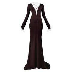 Iconic Gucci by Tom Ford Gothic Evening Gown | 2002 Runway