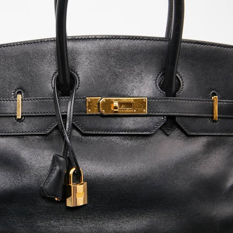 Iconic HERMES Birkin 35 in Black Box Leather For Sale 6
