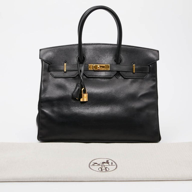 Iconic HERMES Birkin 35 in Black Box Leather For Sale 10