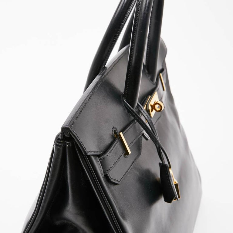 Iconic HERMES Birkin 35 in Black Box Leather For Sale 4