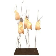 Iconic Ingo Maurer 'Mahbruky' Table Lamp with Japanese Paper Shades by Dagmar Mo