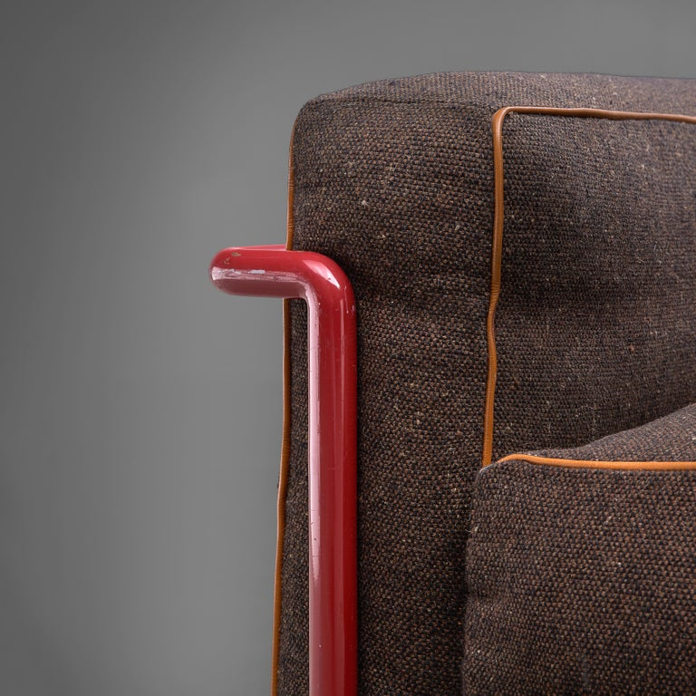 Early 20th Century Iconic Le Corbusier, Jeanneret, Perriand 'LC2' Lounge Chairs For Sale