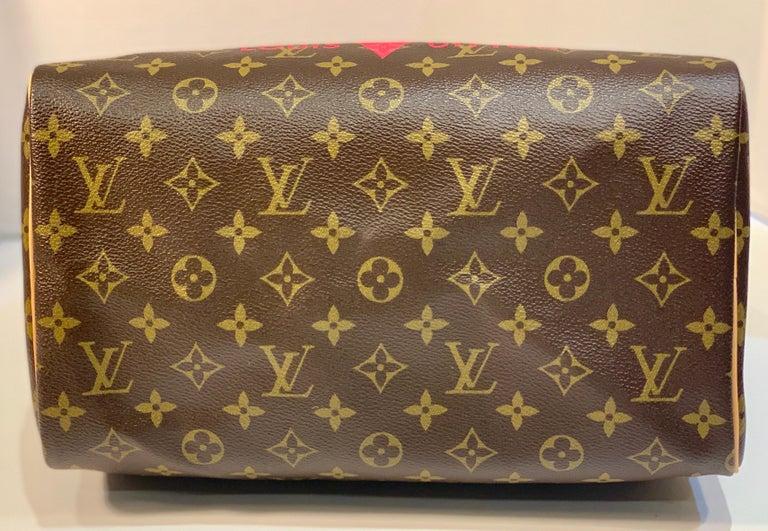 Iconic Louis Vuitton Speedy 30 Handbag Limited Edition Grenade V Monogram Canvas For Sale 6