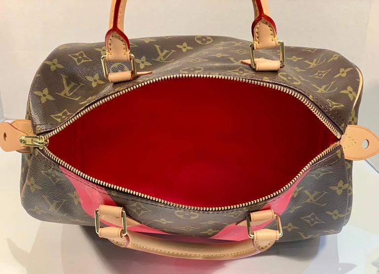 Iconic Louis Vuitton Speedy 30 Handbag Limited Edition Grenade V Monogram Canvas For Sale 7