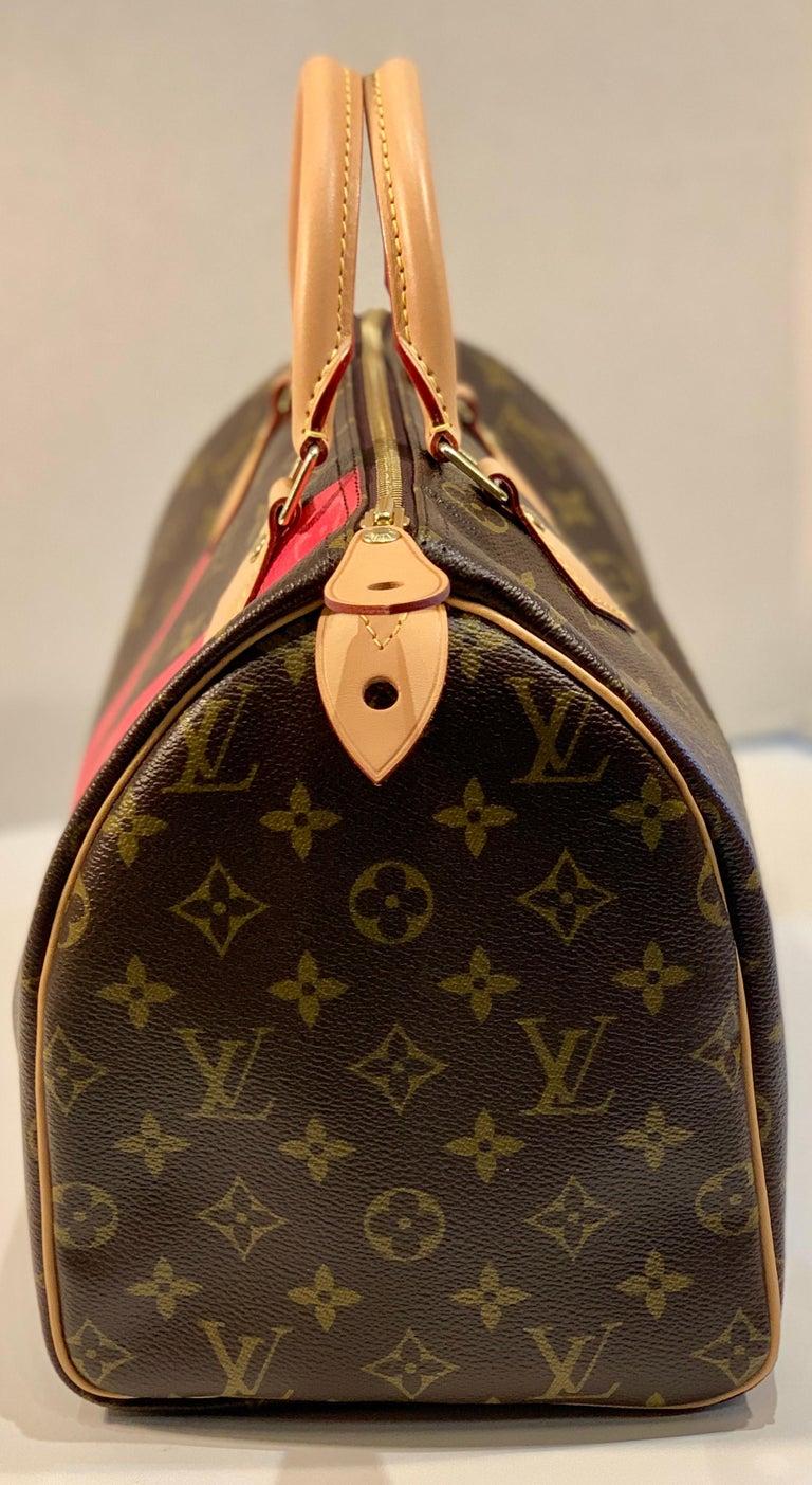 Women's Iconic Louis Vuitton Speedy 30 Handbag Limited Edition Grenade V Monogram Canvas For Sale
