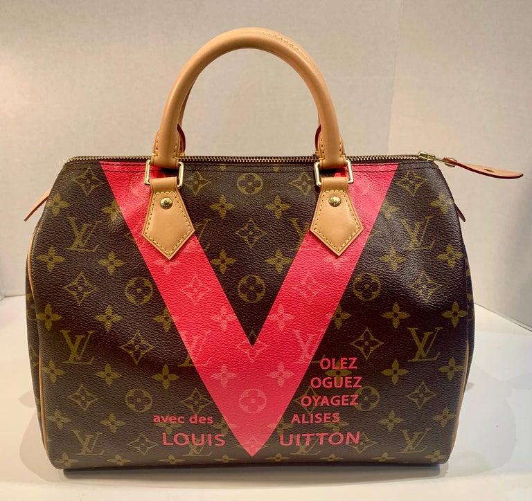 Iconic Louis Vuitton Speedy 30 Handbag Limited Edition Grenade V Monogram Canvas For Sale 1