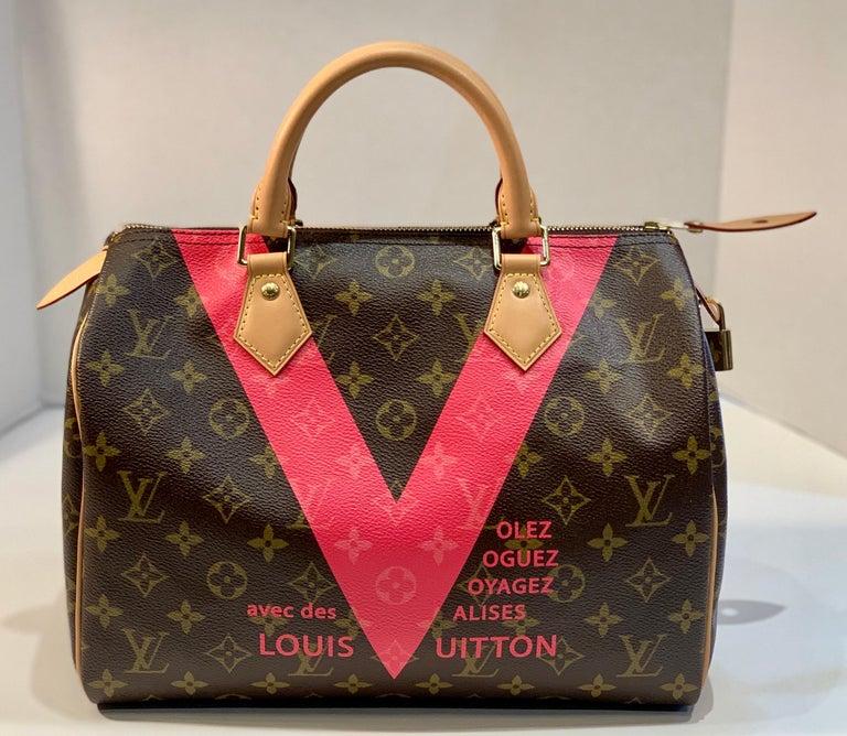 Iconic Louis Vuitton Speedy 30 Handbag Limited Edition Grenade V Monogram Canvas For Sale 3