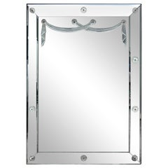 Iconic Lucite Swag Mirror by Grosfeld House