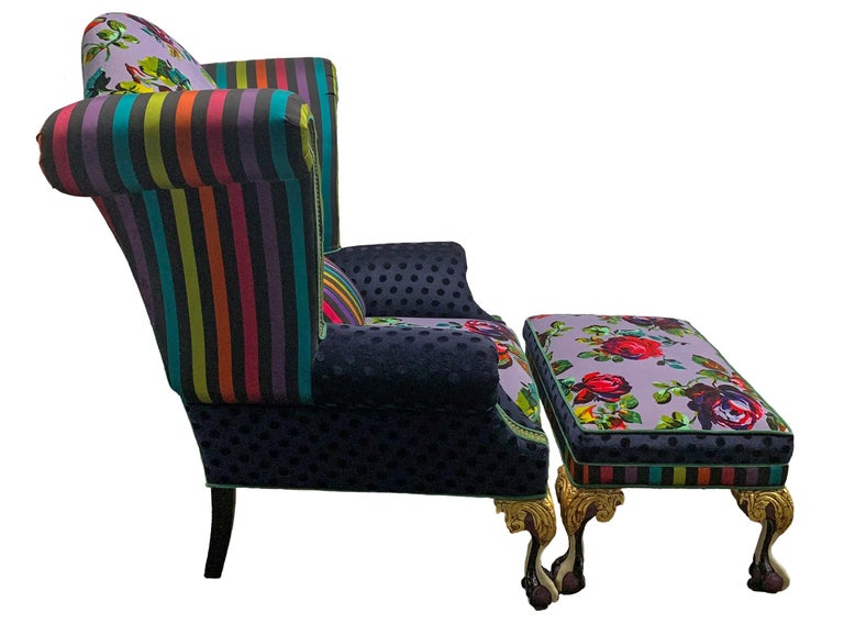Bohemian Iconic Mackenzie-Childs Monumental Armchair