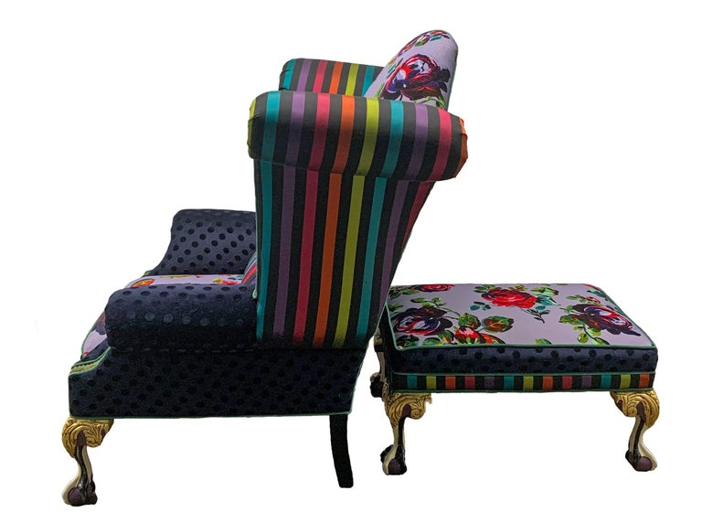 Hand-Painted Iconic Mackenzie-Childs Monumental Armchair