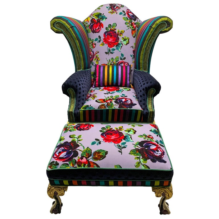 Iconic Mackenzie-Childs Monumental Armchair