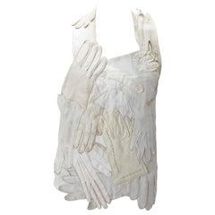 Iconic Maison Martin Margiela Artisanal White  Glove Bodice, S/S 2001.