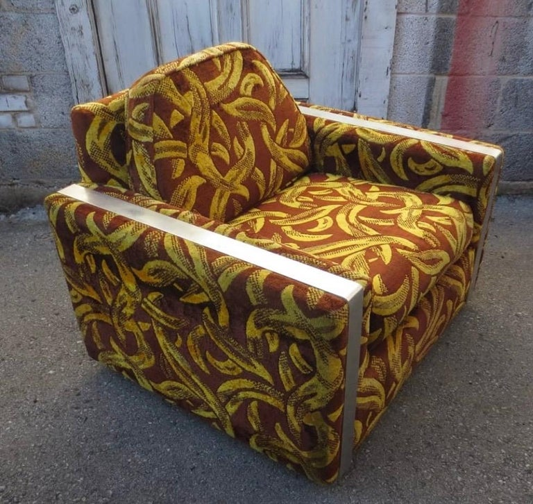 Iconic Mid-Century Modern Cubist Lounge Chair For Sale 4