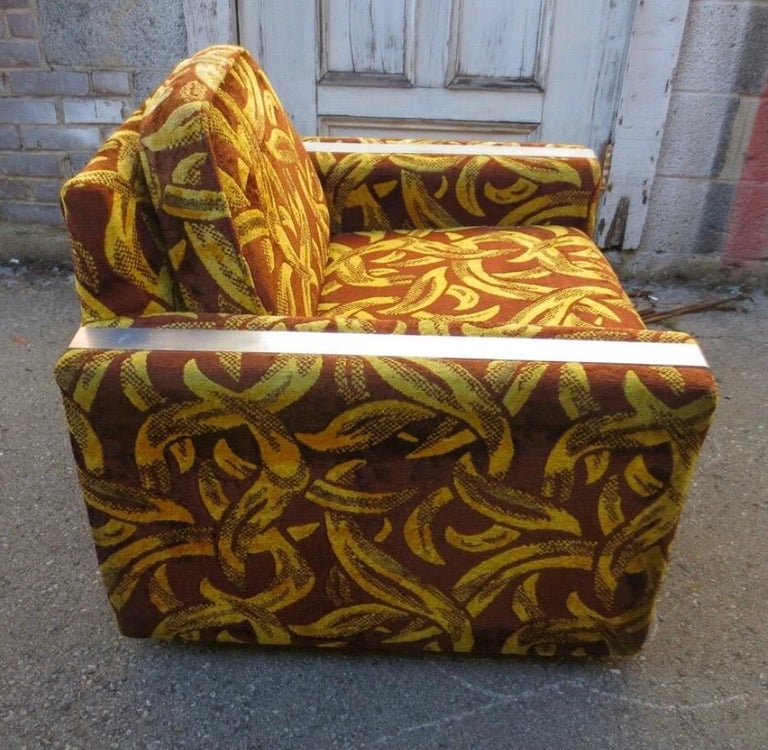 Iconic Mid-Century Modern Cubist Lounge Chair For Sale 1