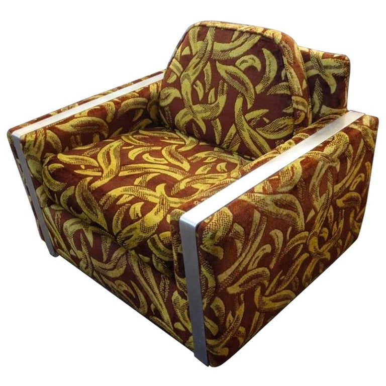 Iconic Mid-Century Modern Cubist Lounge Chair For Sale