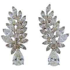 Iconic Midcentury Diamond Platinum Earrings