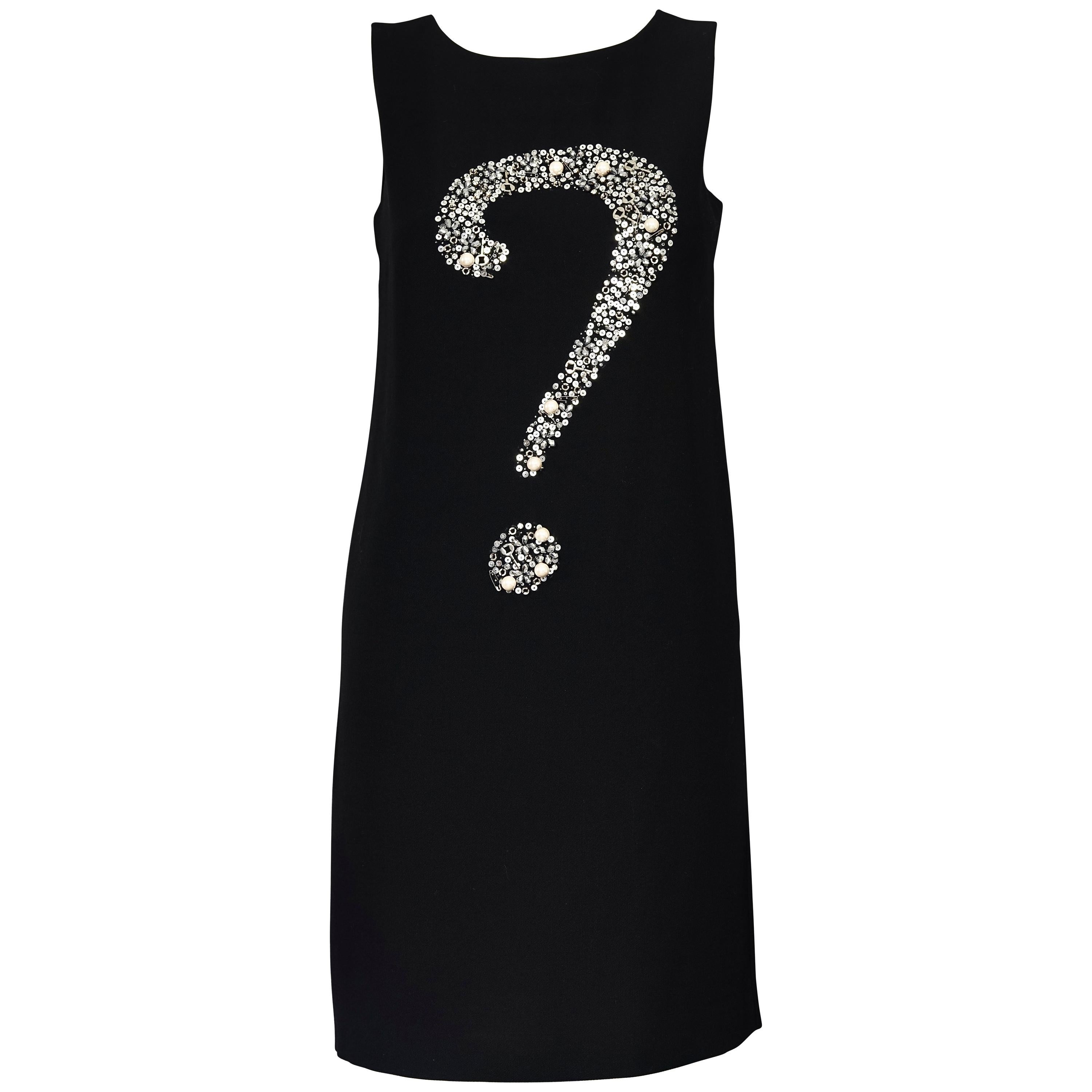 Iconic MOSCHINO Question Mark Embellished Dress