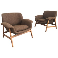 Iconic Pair of Armchairs 849 by Gianfranco Frattini for Cassina