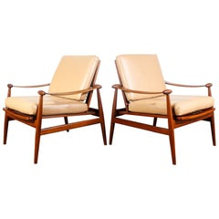 Iconic Pair of Finn Juhl Spade Chairs