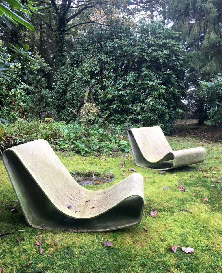 Iconic Pair of Loop Chairs by Willy Guhl, 1960s For Sale 5