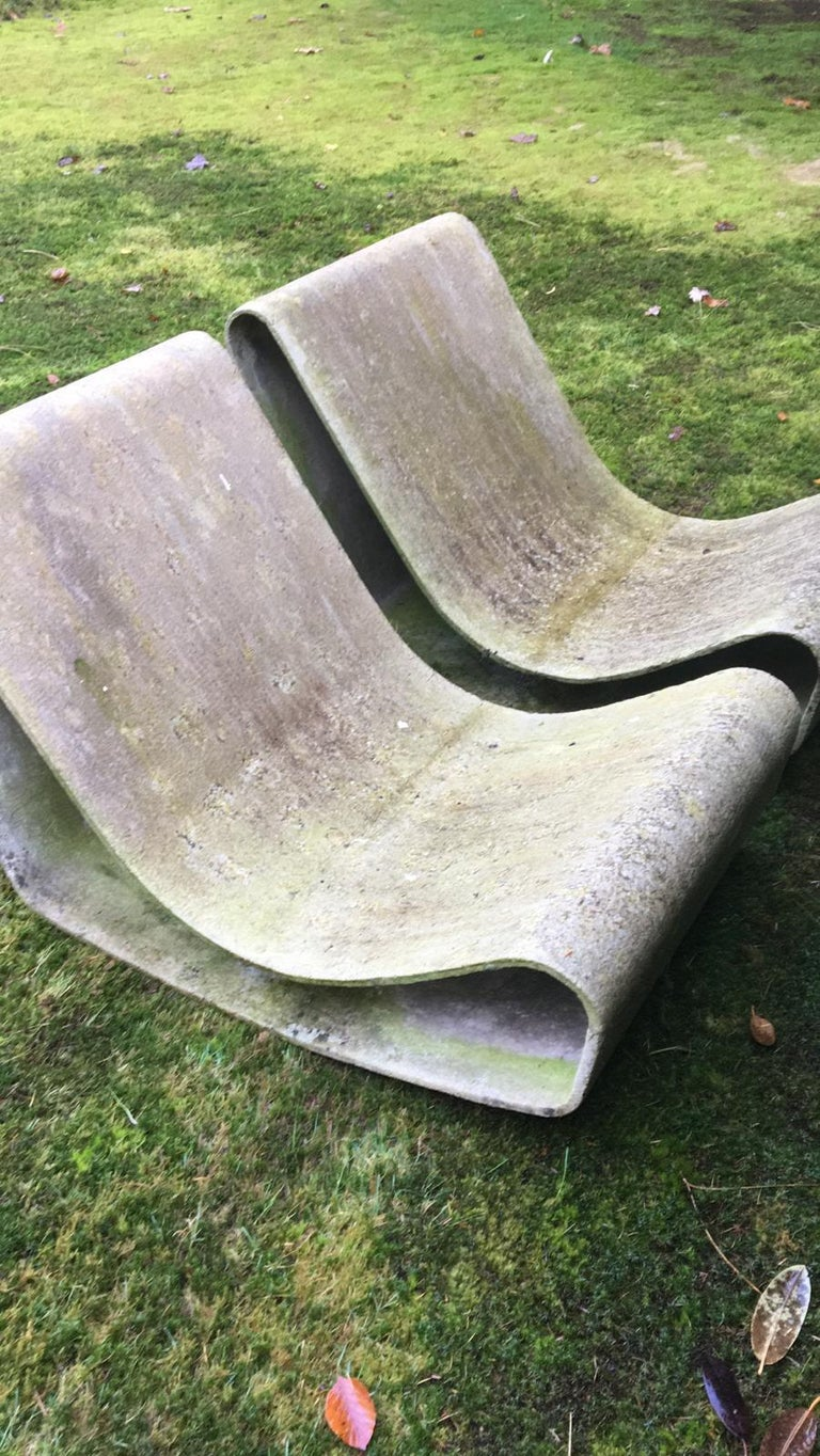 Iconic Pair of Loop Chairs by Willy Guhl, 1960s In Good Condition For Sale In Schagen, NL