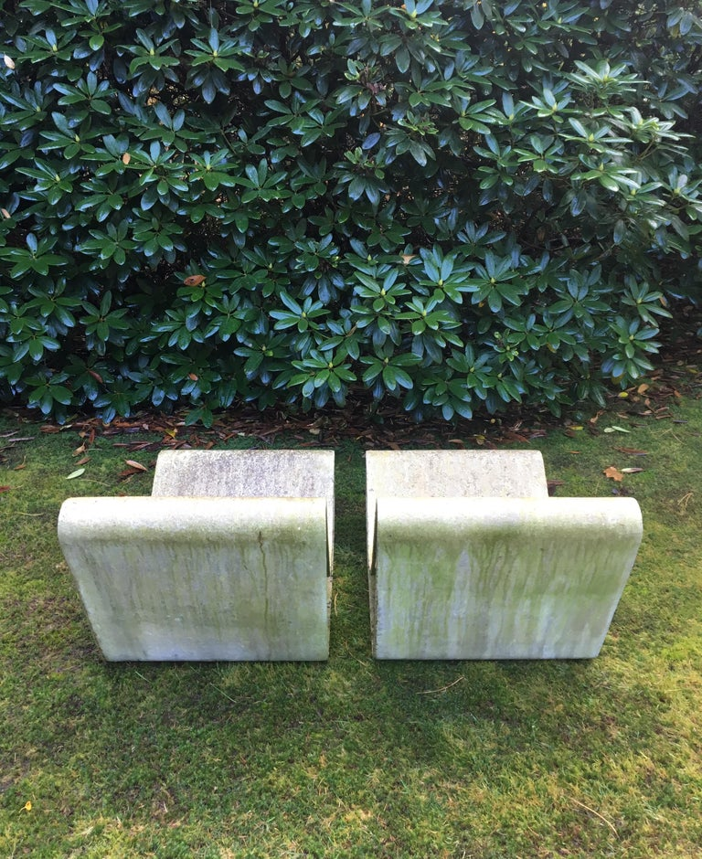 Cement Iconic Pair of Loop Chairs by Willy Guhl, 1960s For Sale