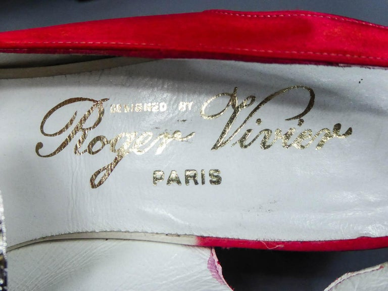 Iconic Pair of Roger Vivier Pumps  Circa 1970 For Sale 5