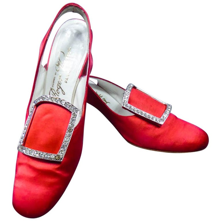 Iconic Pair of Roger Vivier Pumps  Circa 1970 For Sale