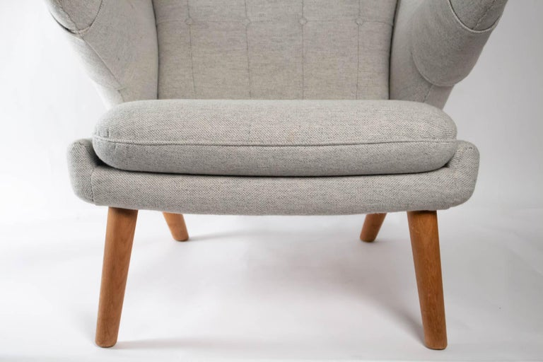 Iconic Papa Bear Armchair with Matching Ottoman, Denmark, Hans Wegner, 1960s For Sale 4