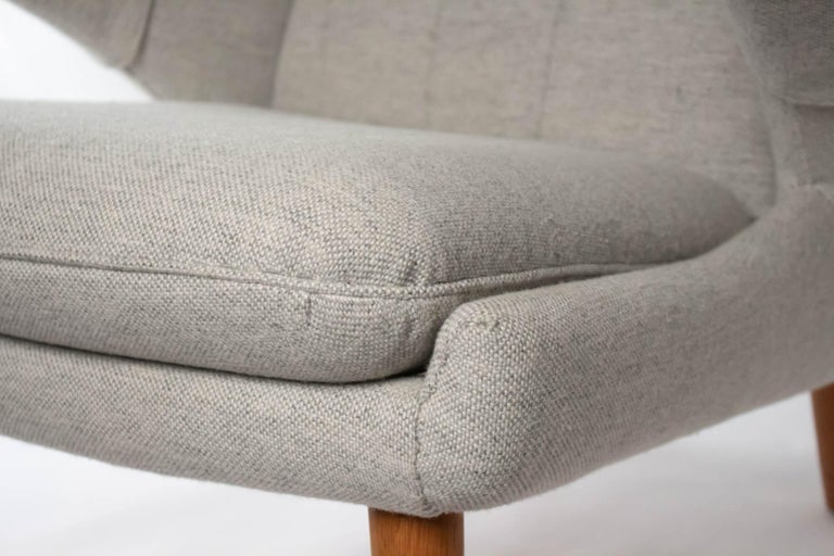 Iconic Papa Bear Armchair with Matching Ottoman, Denmark, Hans Wegner, 1960s For Sale 5
